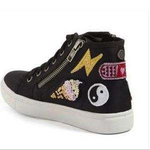 Steve Madden high top girls sneakers